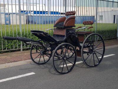 nieuw type presentatiewagen spider veluw putten enkelspan paard